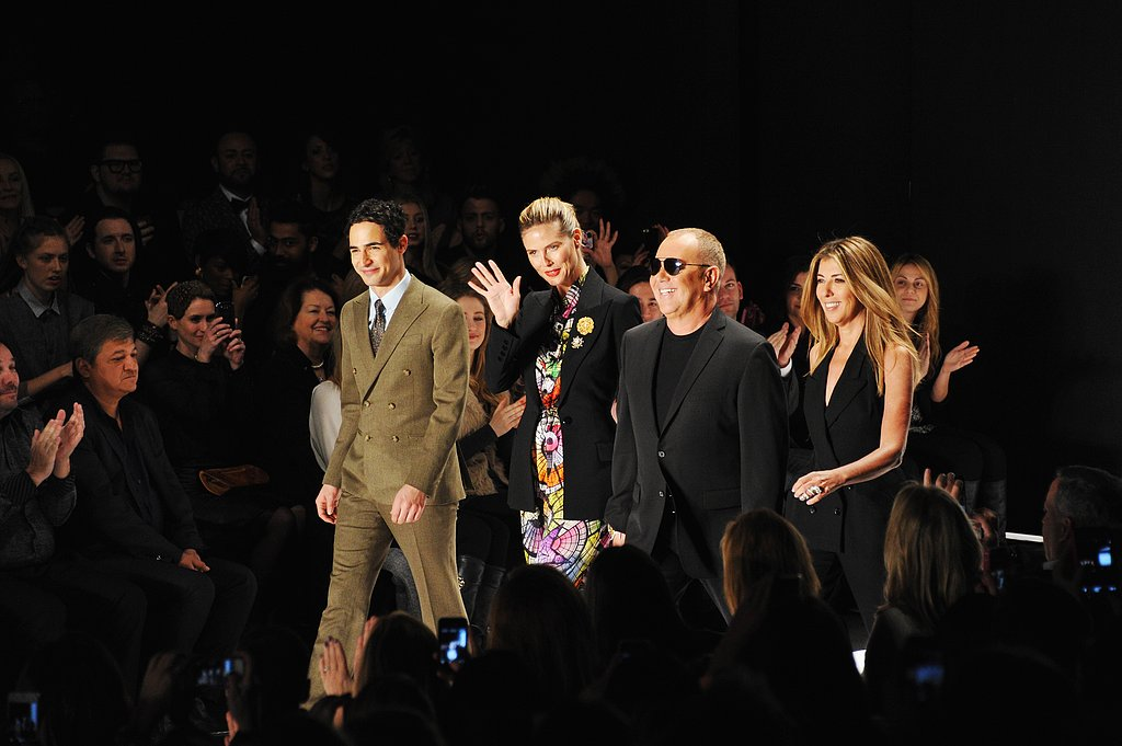 Heidi Klum, Michael Kors, Nina Garcia, and Zac Posen took their seats at the Project Runway fashion show in NYC on Friday.