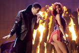 """Rihanna opted to not """"adequately cover"""" her buttocks during her 2011 performance with Drake."""