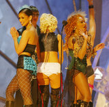 "The ""Lady Marmalade"" ensemble exposed ""bare flesh under curves of the buttocks"" at the 2002 show."