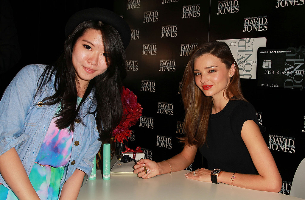 Miranda Kerr Greets Fans and Works on Kora Organics In Melbourne