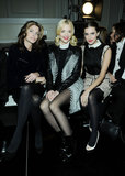Stephanie Seymour, Jaime King and Allison Williams in the front row at Jason Wu.