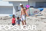 Bikini-Clad Miranda Kerr Hits the Beach With Flynn and Shirtless Orlando!