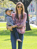 Miranda Kerr took Flynn to an LA park.
