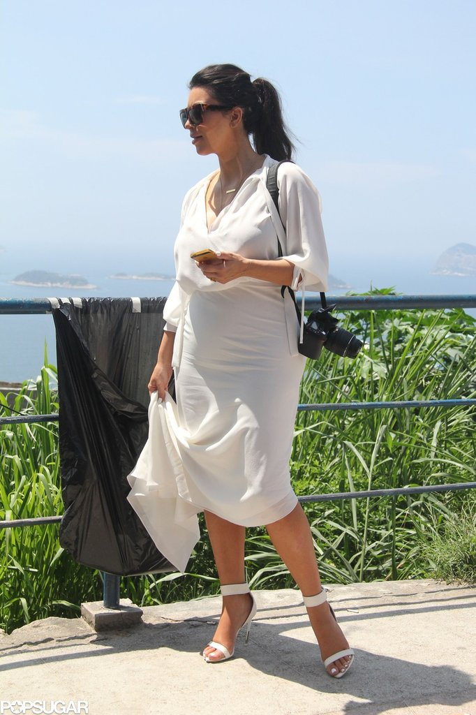 Kim Kardashian had her camera with her for sightseeing around Brazil.