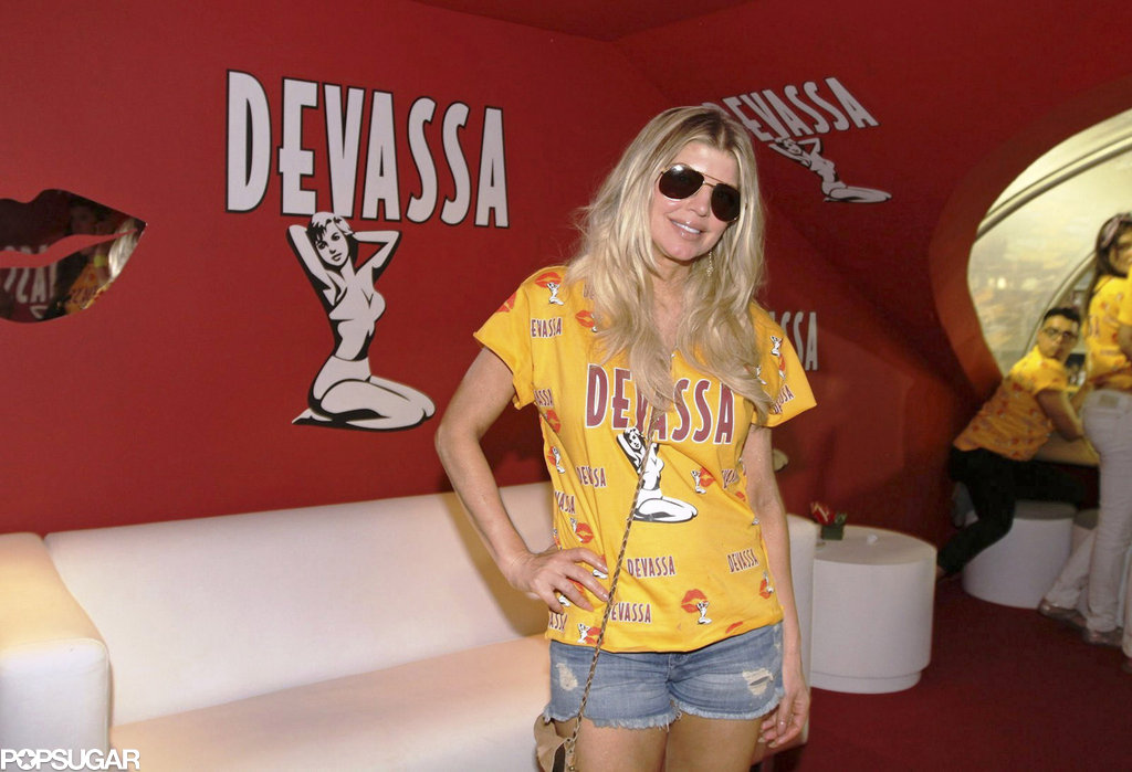 Fergie posed solo at the Devassa VIP box during Carnival in Rio de Janeiro in February 2012.