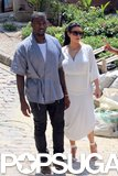 Kim Kardashian and Kanye West met up with Will Smith in Brazil.