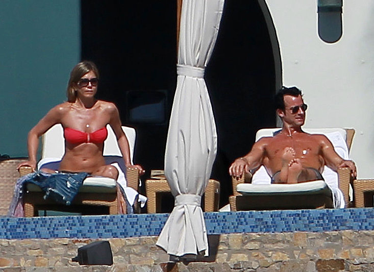 Jennifer Aniston and Justin Theroux soaked up the rays in Cabo in December 2012.
