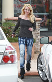 Britney Spears wore a pair of boots.