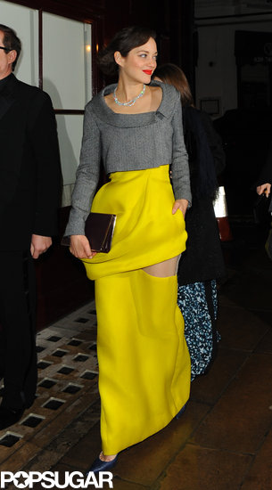 Marion Cotillard arrived at the afterparty.
