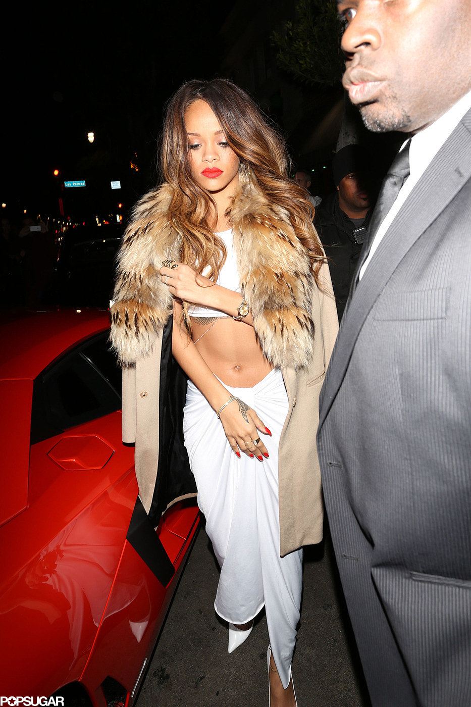 Rihanna arrived with Chris Brown.
