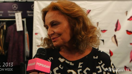 "Diane von Furstenberg Wants You and Her Fall '13 Collection to ""Become Friends"""
