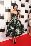 Daisy Lowe's voluminous floral dress was retro perfection.