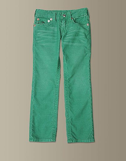 For a piece he can wear on Mardi Gras and beyond, go with these kelly-green corduroy pants ($99).