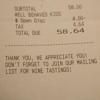 Restaurant Offers Well-Behaved Children Discount