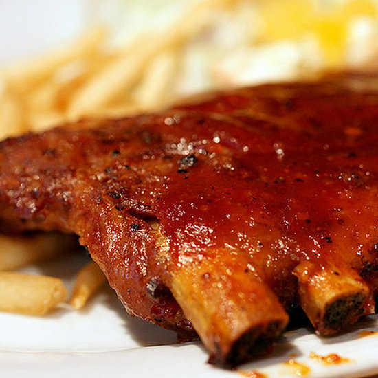 Mustard-Bourbon-Glazed Ribs