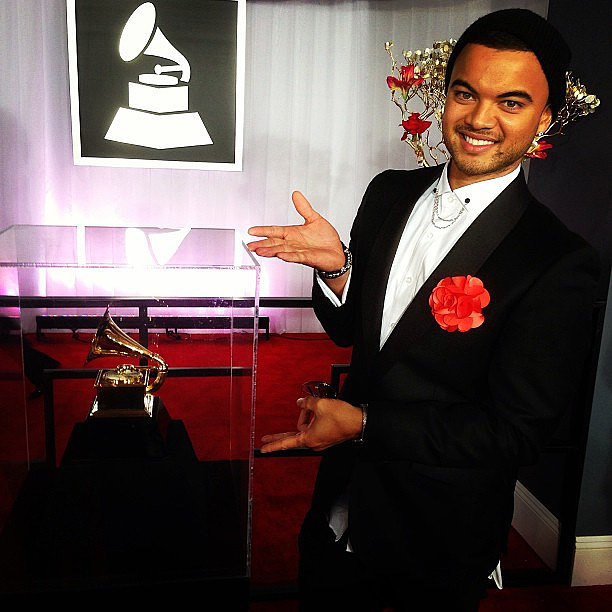 "Guy Sebastian wished his ""Battle Scars"" collaborator Lupe Fiasco good luck with his Grammy nomination. Source: Instagram user guysebastian"