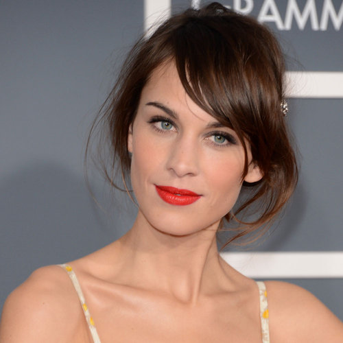 Pictures of Alexa Chung at the 2013 Grammy Awards