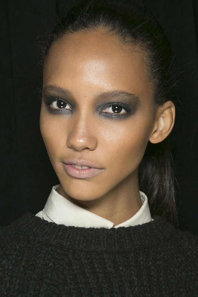 When it comes to metallic eye shadow for Fall, more is more, according to Donna Karan.