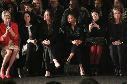 Brooke Shields sat and watched the Naeem Khan show at New York Fashion Week in February.
