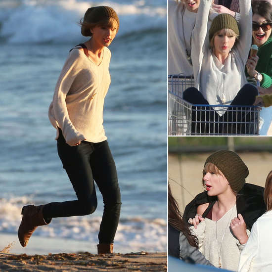 Taylor Swift Hangs With Her Girls During New Music Video Shoot