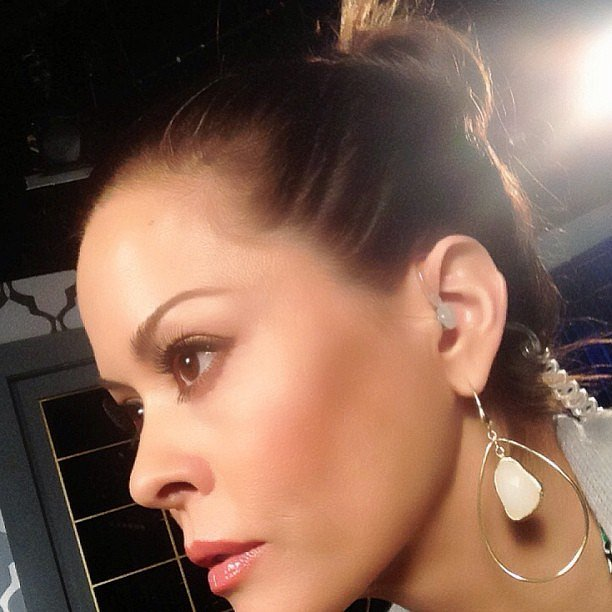 Brooke Burke shared a photo of the updo she styled herself. Source: Instagram user thebrookeburke