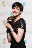 Anne Hathaway showed her BAFTA Award some love.