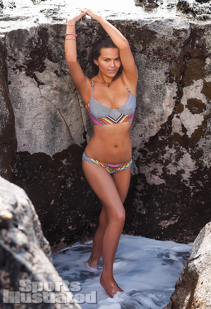 Bikini-clad Chrissy Teigen posed in Chile for her Sports Illustrated Swimsuit Issue shoot.