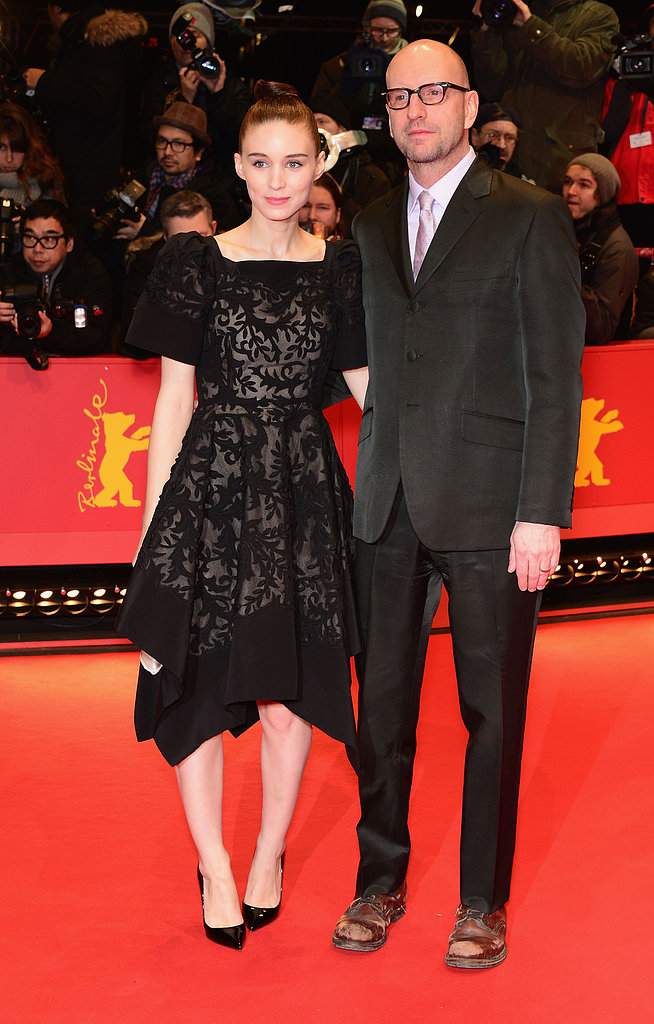 Rooney Mara posed on the red carpet with Side Effects director Steven Soderbergh.