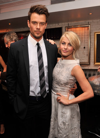 Josh Duhamel and Julianne Hough posed together at the afterparty at Beauty & Essex.