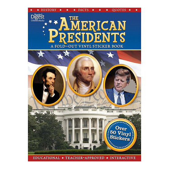 This fold-out sticker book ($10) isn't just about peeling off portraits of the presidents. It's also a learning tool that profiles each man and features their personal stories and major accomplishments; kids will discover tidbits like which leader had 15 children.