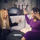 You could say Oprah and Beyoncé were happy to see each other. Source: Instagram user baddiebey