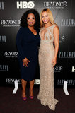 Beyoncé Knowles posed with Oprah Winfrey at the premiere.
