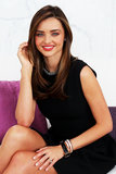 Miranda Kerr sported a black dress to promote Clear Scalp & Hair Beauty Therapy.