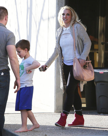 Britney Spears Spends Time With Her Boys as She Preps For a New Video