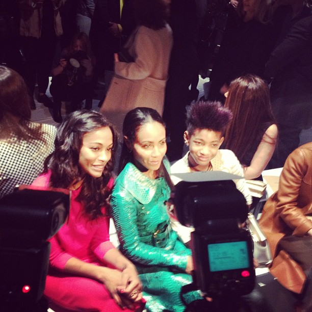 Jada Pinkett Smith hung out with her daughter, Willow Smith, and Zoe Saldana. Source: Instagram user netaporter