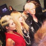Rachel Zoe and Miley Cyrus met up at Fashion Week. Source: Instagram user thezoereport