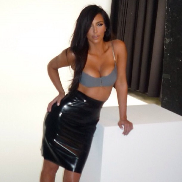 Kim Kardashian shared a sexy photo on Instagram. Source: Instagram user kimkardashian