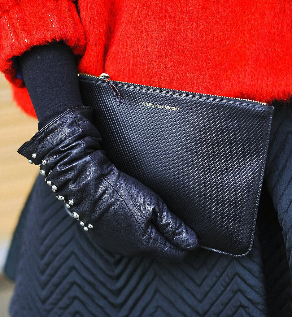 This Comme des Garcons little black clutch didn't need much to stand out.