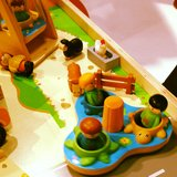 We loved Hape's wooden school-yard toys.