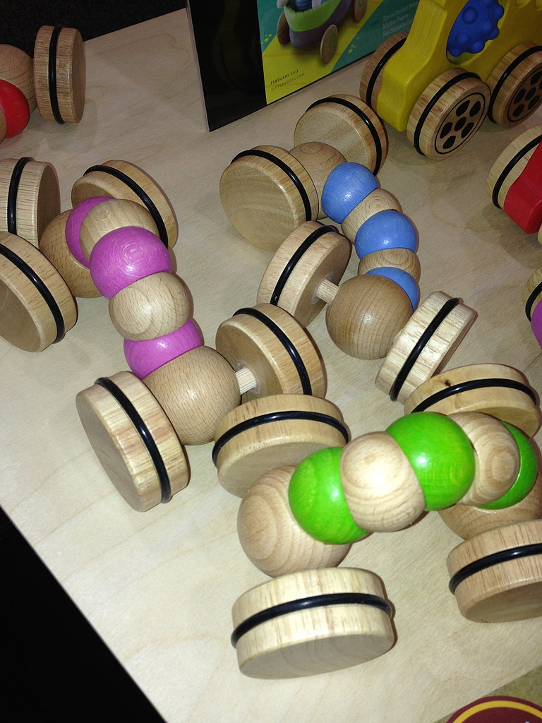 Begin Again's beautiful wooden toys are great for little hands.