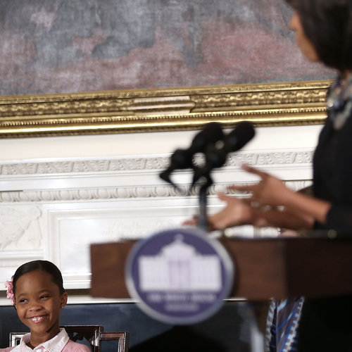 Michelle Obama and Quvenzhané Wallis