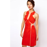 As clichéd as it is I can't look past red and I'm loving this structured yet sexy dress. It's all about the strategically placed cut-outs! — Laura, shopstyle.com.au country manager Dress, approx $246, Three Floor at ASOS