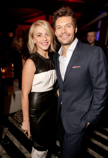 Julianne Hough hung out with Ryan Seacrest.