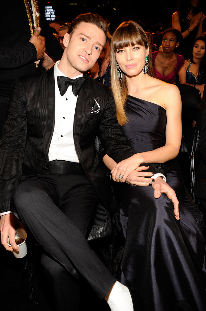 Justin Timberlake and Jessica Biel were among the cute couples at the Grammys, where Justin also perfomed — see all the celebrities at the 2013 Grammys.