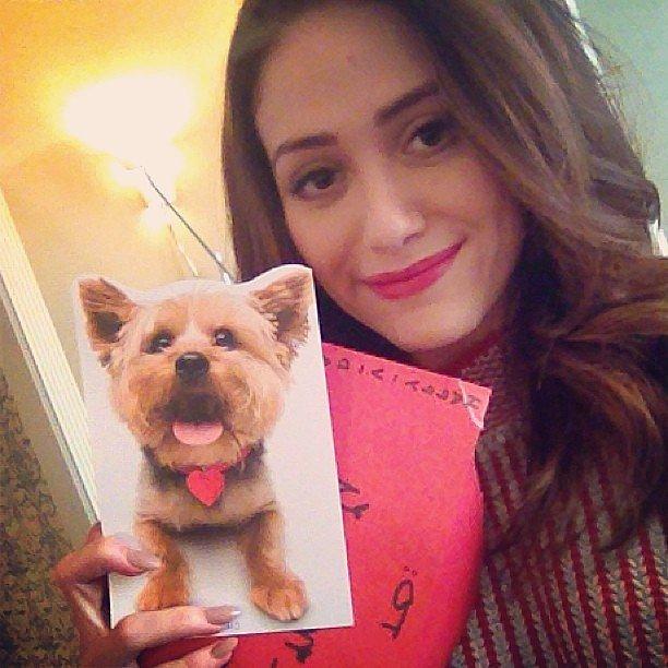 Emmy Rossum displayed an adorable card from her BFF for Valentine's Day. Source: Instagram user emmyrossum