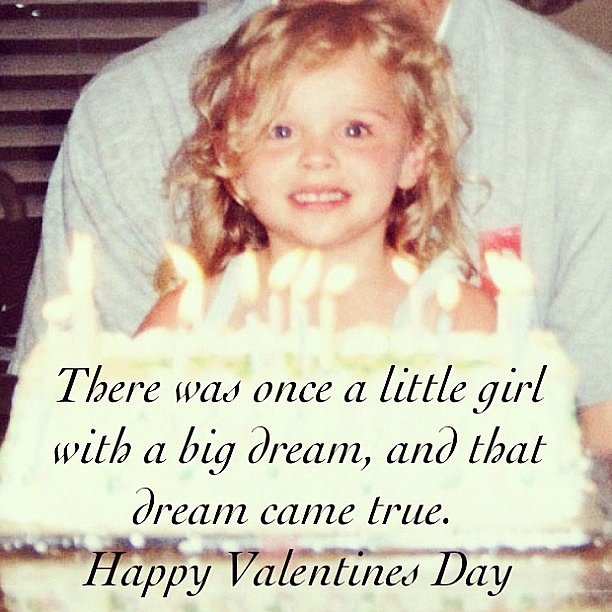 Chloë Moretz shared an inspiring quote for Valentine's Day. Source: Instagram user cmoretz