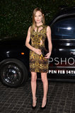 Kate Bosworth dress displayed a flirty yellow pattern.