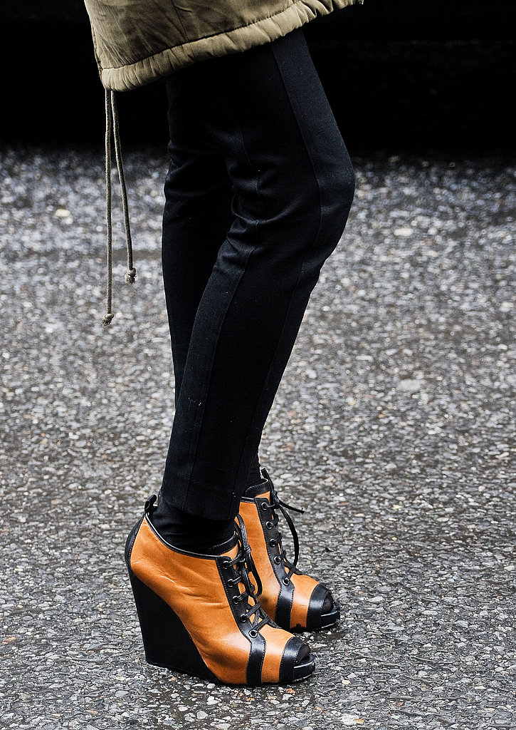 Wedged lace-ups aren't just eye-catching, they're an easy-on-your-feet alternative to sky-high heels.
