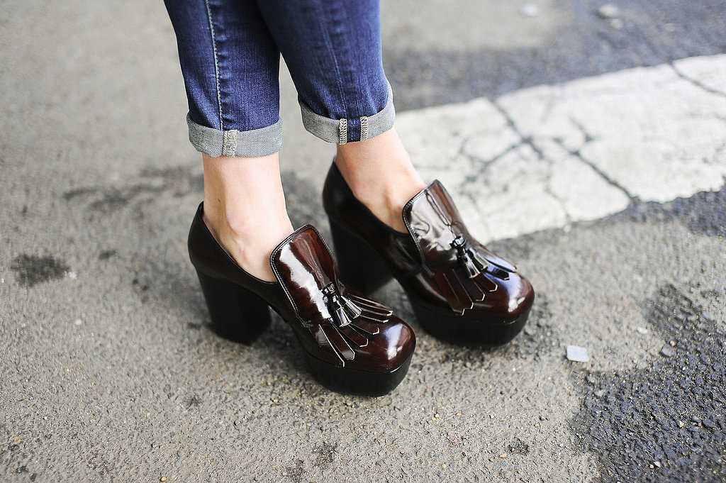 Miu Miu's heeled brogues have a classic-meets-quirky feel.