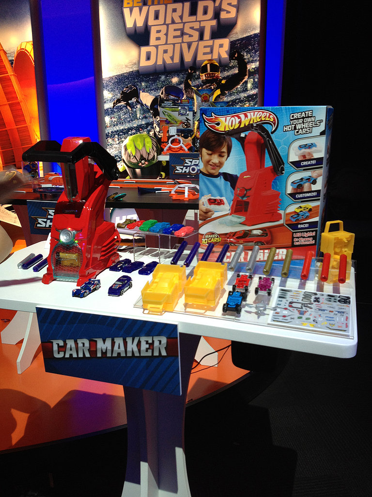 The new Hot Wheels Car Maker does just that — it allows kids to make their own cars in a matter of minutes!